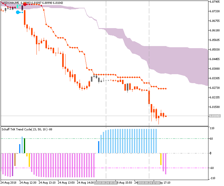USD/CNH by Metatrader 5