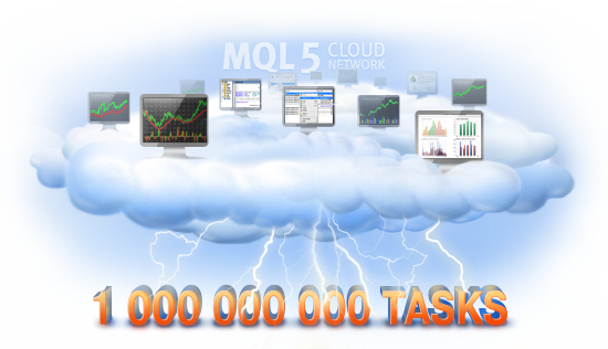 Миллиард задач в MQL5 Cloud Network!