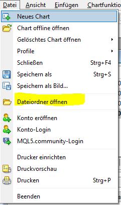 Dateiordner MT4