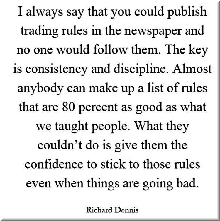 Words of Wisdom Richard Dennis
