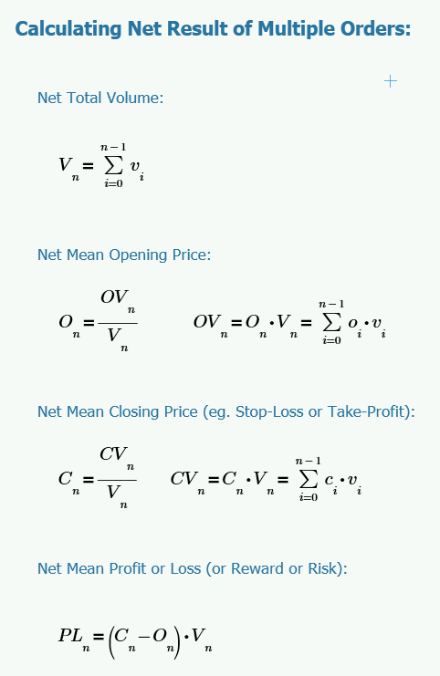 How to Calculate the Net Resulting Equivalent Order
