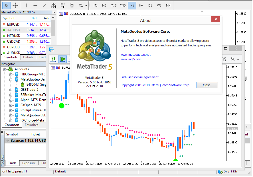 MetaTrader 5 Platform Beta Build 1910: Unbound drag-and-drop of charts and .Net libraries in MQL5