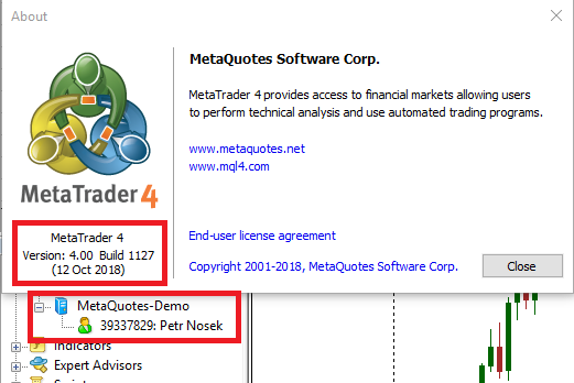 MetaTrader 4 platform beta build 1145 - Demo Trading - MQL4 and