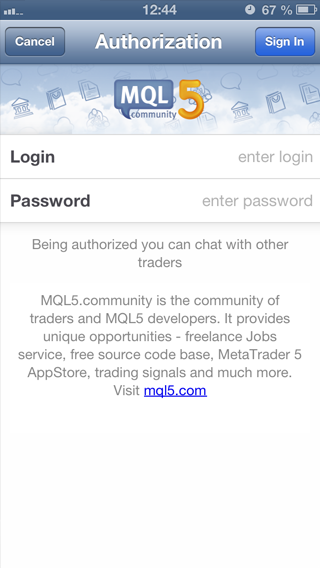 Register in MQL5.com Directly From The Mobile Application