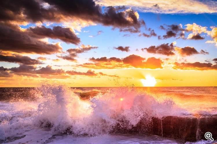 Crashing the sunset