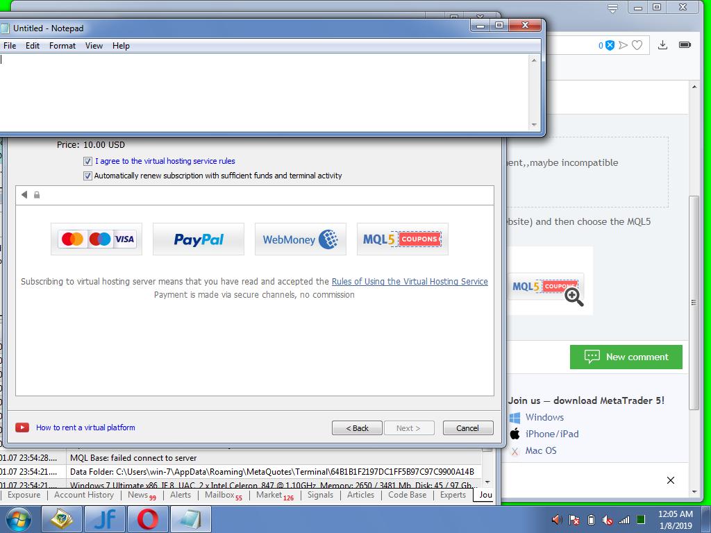 Comprar VPS con Paypal