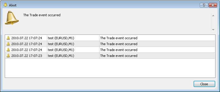Processamento de eventos trade no Expert Advisor usando a função OnTrade()
