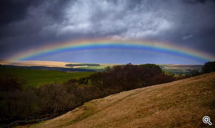 Rainbow over Stonehaugh, Northumberland