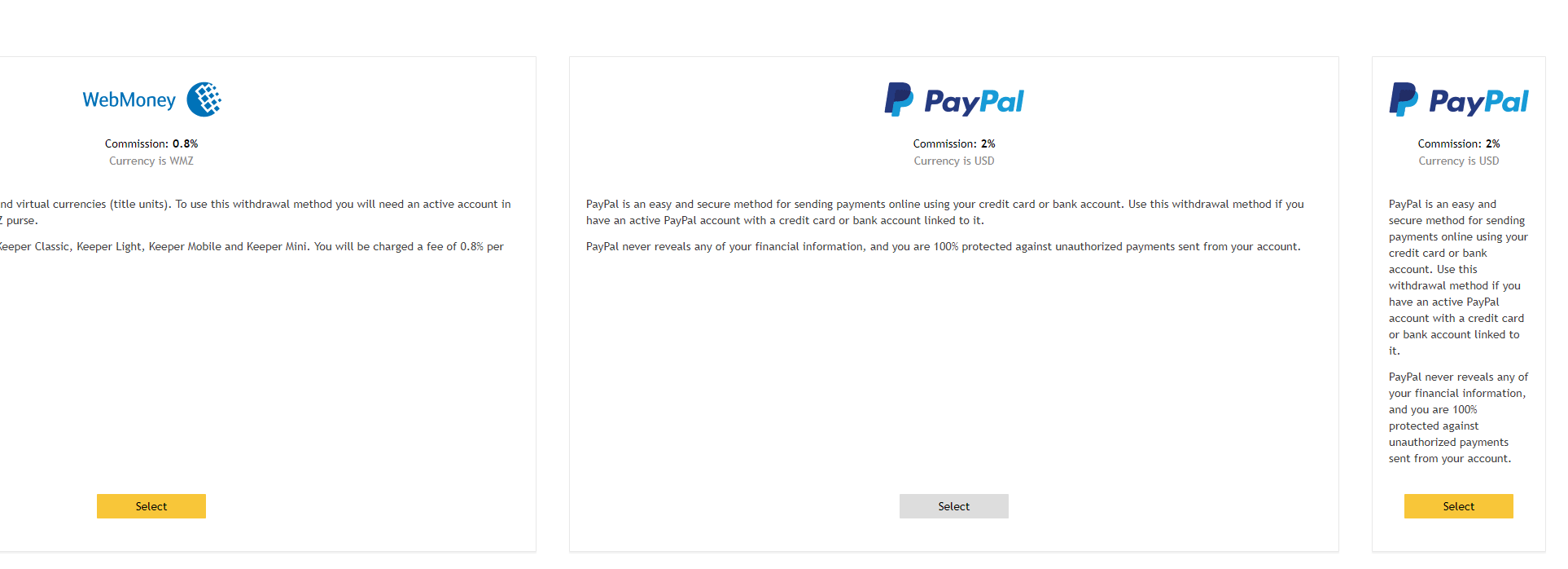 Trading platforms that accept paypal