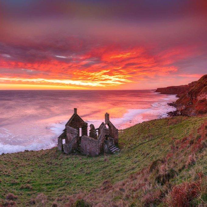 Scottish coast and North Sea in Berwickshire Scotland