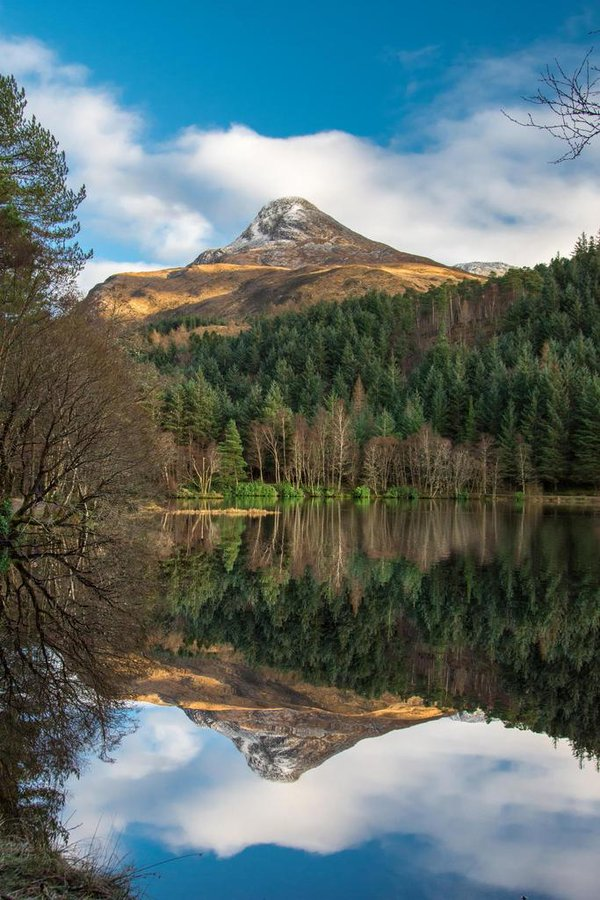 A still day at Glencoe Lochan, Scotland, UK