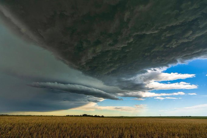 Supercell Thunderstorm over the Nebraska Plains. Alliance, NE