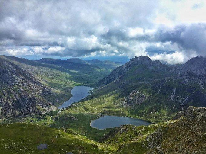 View from Tryfan, Snowdonia, U.K.