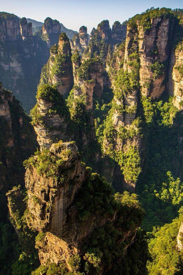 Trail rock formations at Zhangjiajie, China