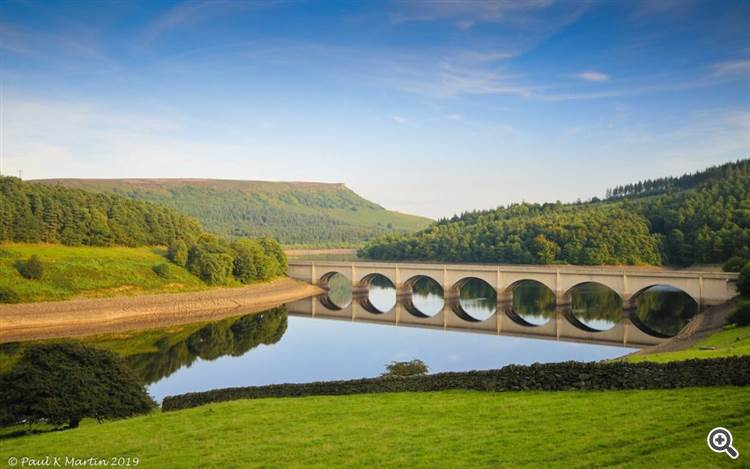 Ladybower Reservoir, Peak District, England by Paul Martin