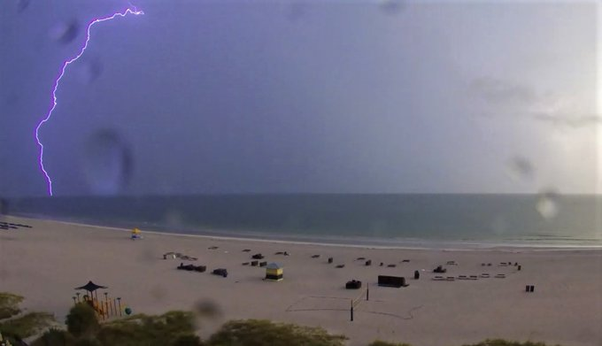 Lighting over the Gulf of Mexico, tonight