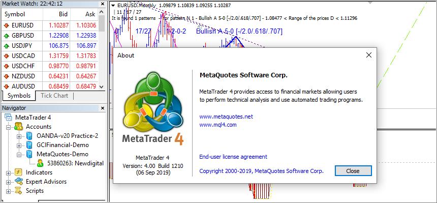 New MetaTrader 4 Platform build 1210 - Trading Platform
