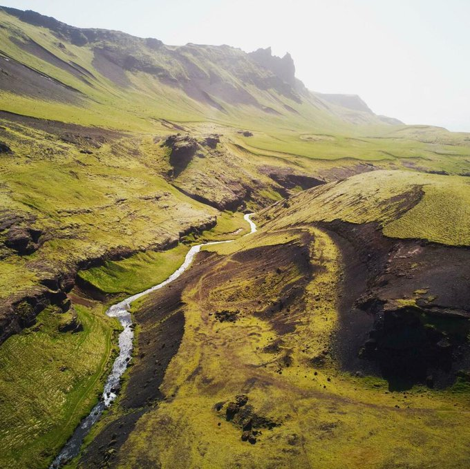 Surreal landscape near Vík, Iceland