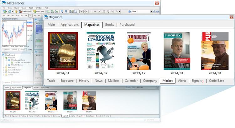 MetaTrader Market Now Features Magazines
