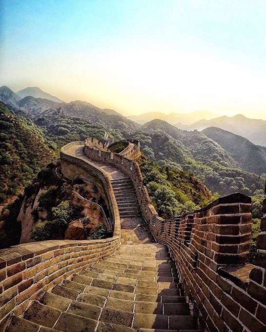 Sunrise on the Great Wall of China