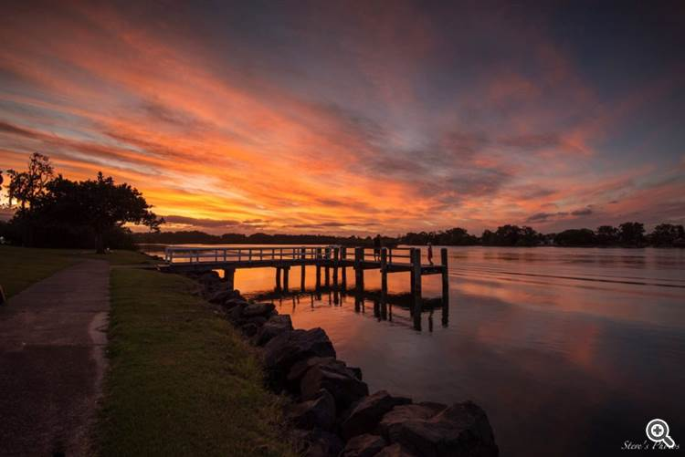 Sunset from the Tweed River, New South Wales, Australia by Steve Berardi