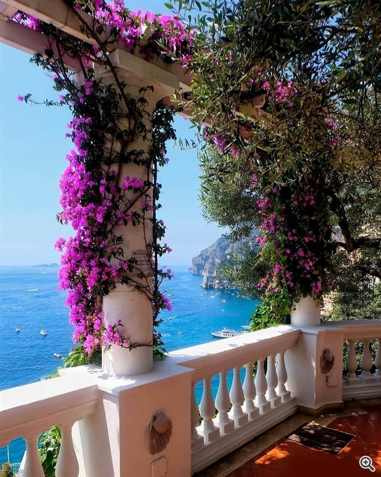 View of Positano and Amalfi coast in Italy