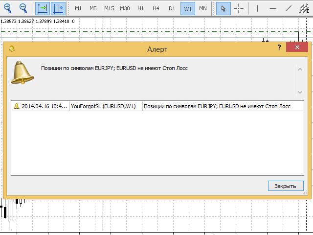 Скриншот сообщения на русском