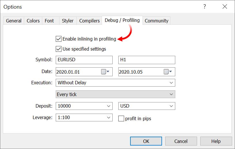 MetaTrader 5 build 2650: фоновая загрузка графиков и улучшения в профилировщике MQL5-кода