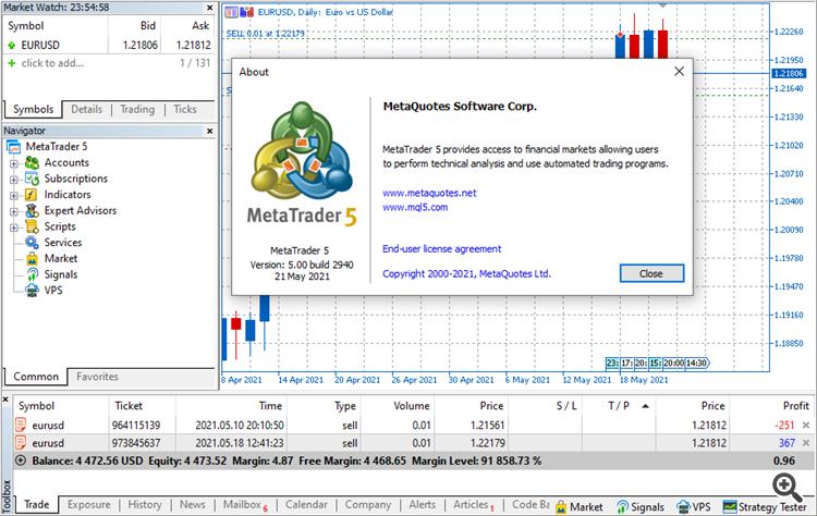 MetaTrader 5 Platform Build 2940