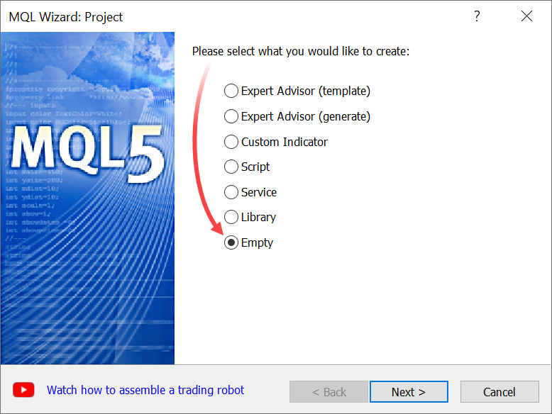 Now you can create an empty project for any custom designs