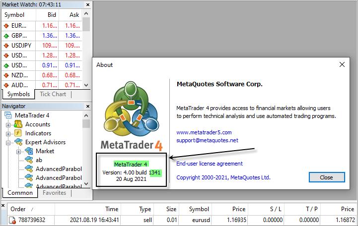 Metatrader 4 build 1341