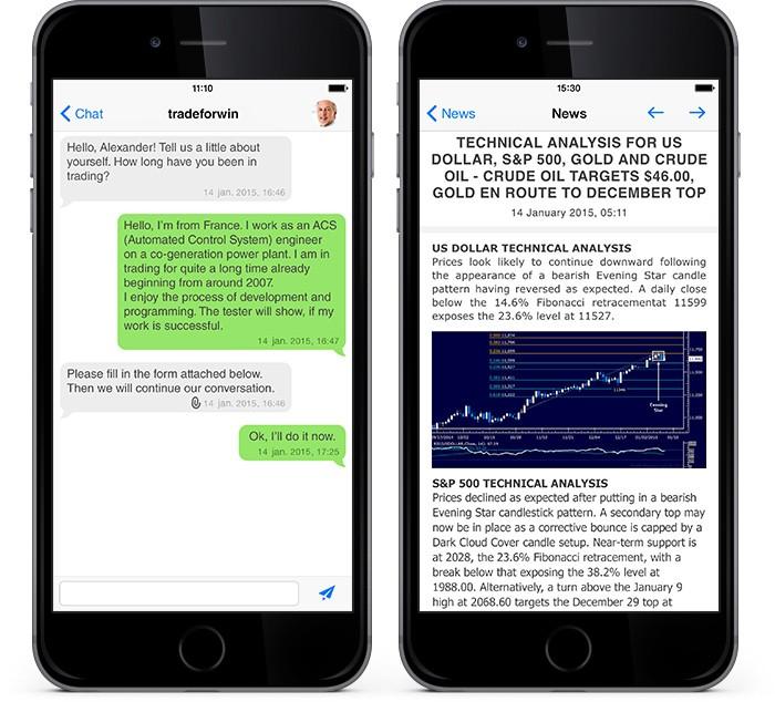 Novo MetaTrader 4 iOS: Notícias Aprimoradas, Atualizado o Chat e Suporte para a Arquitetura de 64-Bit