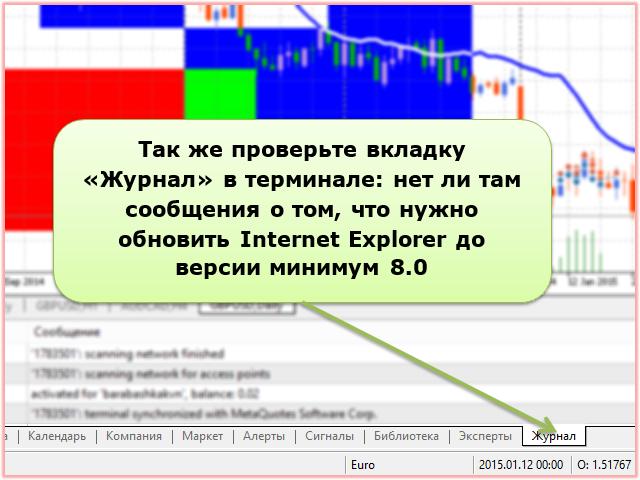 Internet Explorer нужно обновить до версии минимум 8.0