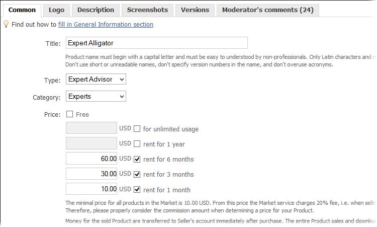 Lista de mudanças nas versões do Terminal Cliente MetaTrader 5
