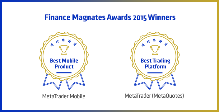 2015 Finance Magnates London Summit Awardsにて、取引プラットフォームMetaTraderが、『ベストプラットフォーム賞』と『最優秀モバイル製品賞』にノミネート、及び受賞