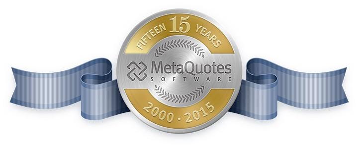 MetaQuotes 软件公司已经15岁啦!