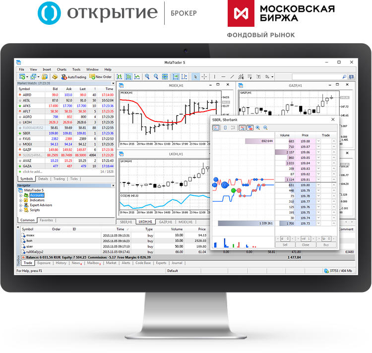 «Otkrytye Bróker» (Bróker Apertura) lanza MetaTrader 5 en el mercado de valores