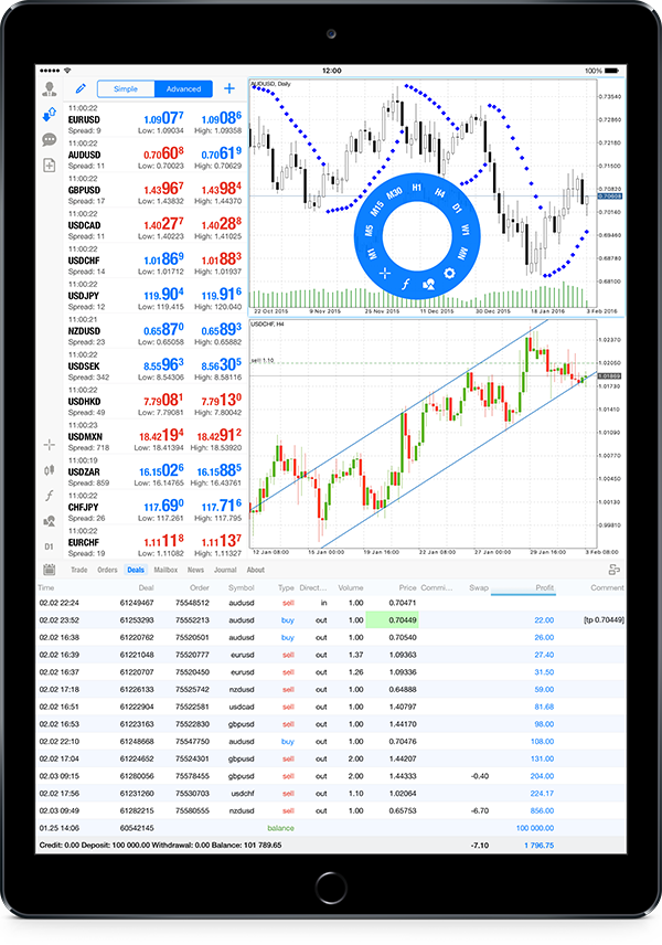 iOS版MetaTrader 5 build 1225―iPad ProとiPadのポートレートモードのサポート