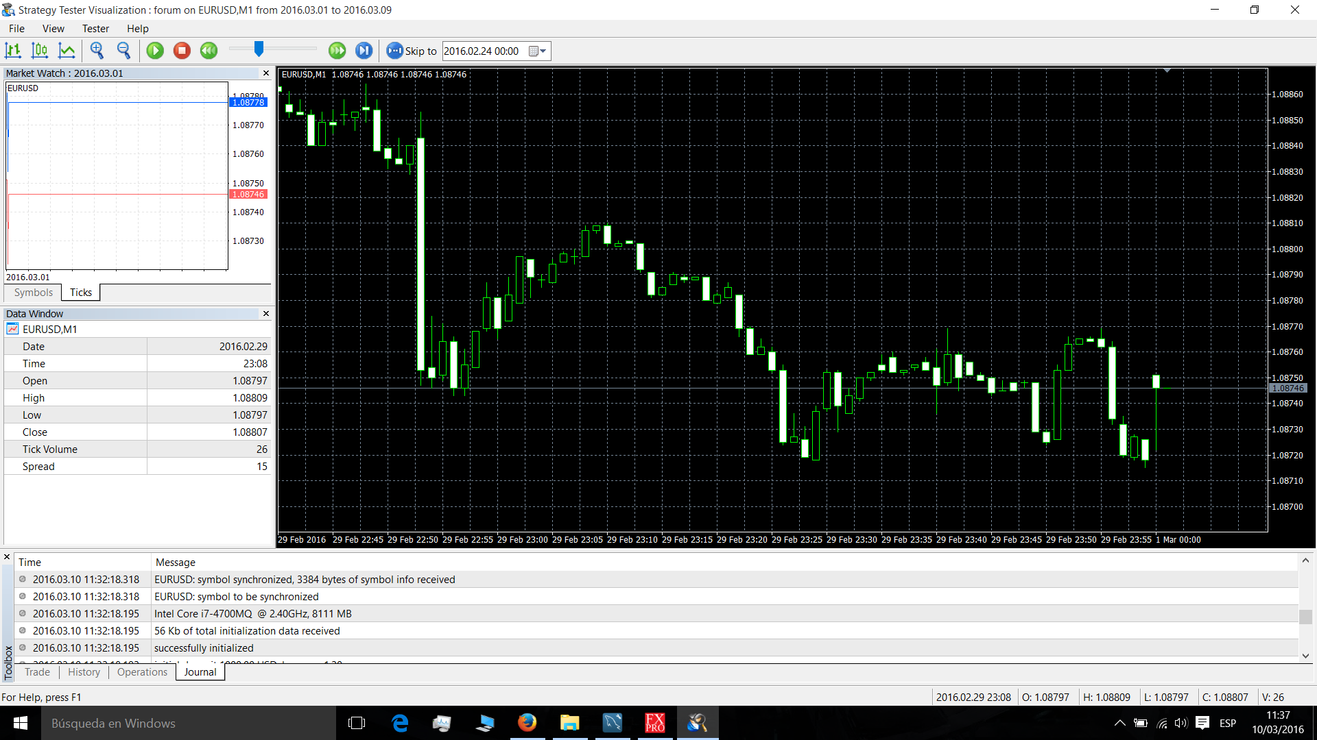 Add indicators in testing mode forex tester