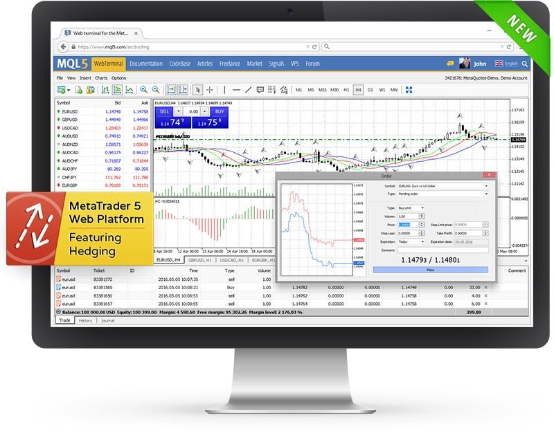 Handeln Sie im MetaTrader 5 direkt im Browser — die Betaversion der Webplattform ist bereits verfügbar