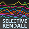 Selective Kendall rank correlation