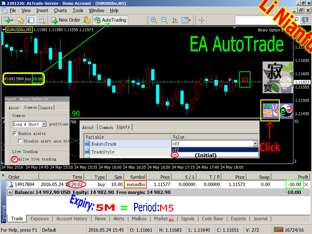 Auto binary options ea