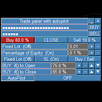 Trade panel with autopilot
