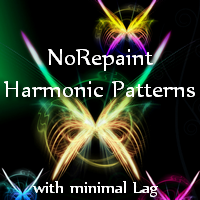 Norepaint Harmonic Patterns with minimal Lag MT5