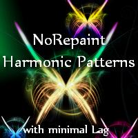 Norepaint Harmonic Patterns with minimal Lag MT5