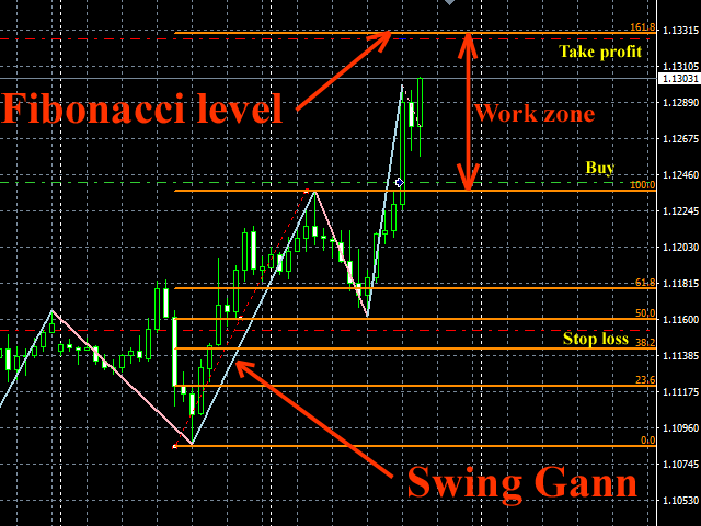 Swing Gann and Fibonacci level