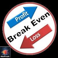 Break Even Price Tag
