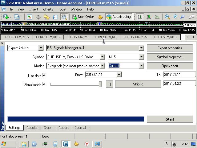 RSI Signals Manager