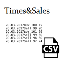 DEMO Times and Sales save to csv