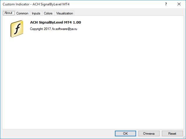 ACH SignalByLevel MT4